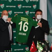 Aroma ve Bursaspor arasındaki sponsorluk anlaşması.