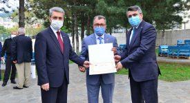 Yıldırım Belediyesi Başkanı Oktay Yılmaz ve Adem Yazıcı